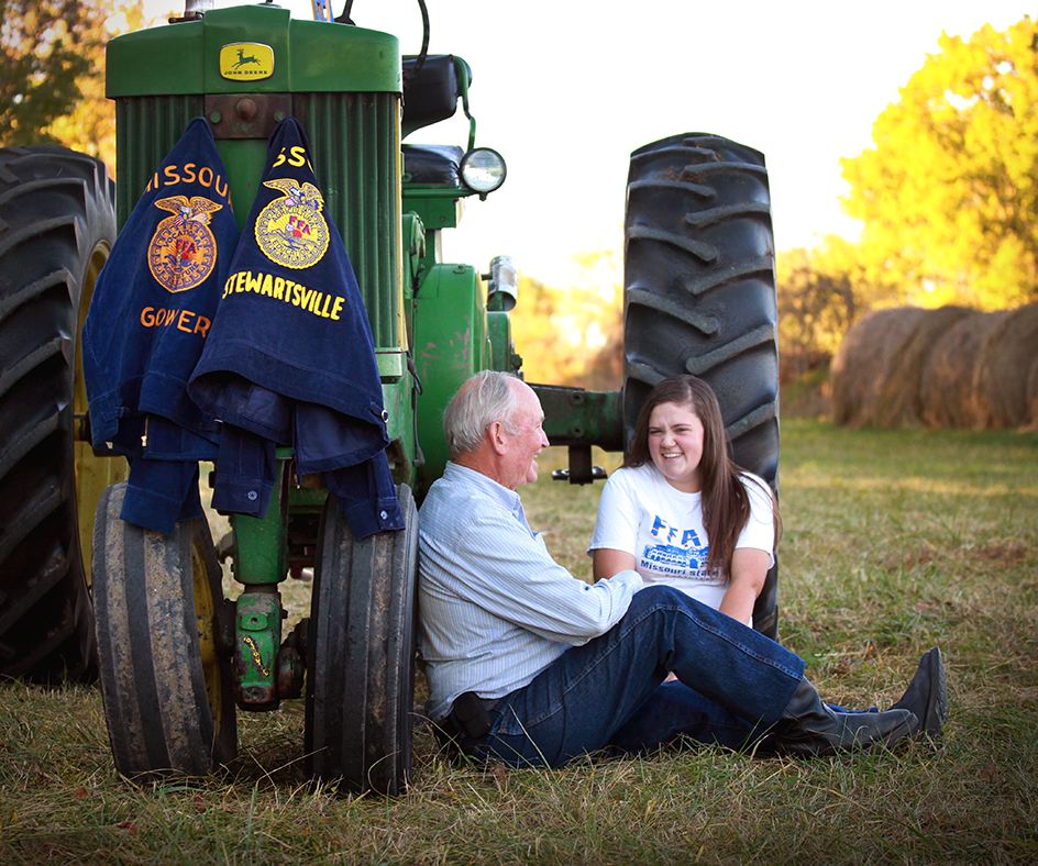 Cierra Keller and Her Grandfather Gene