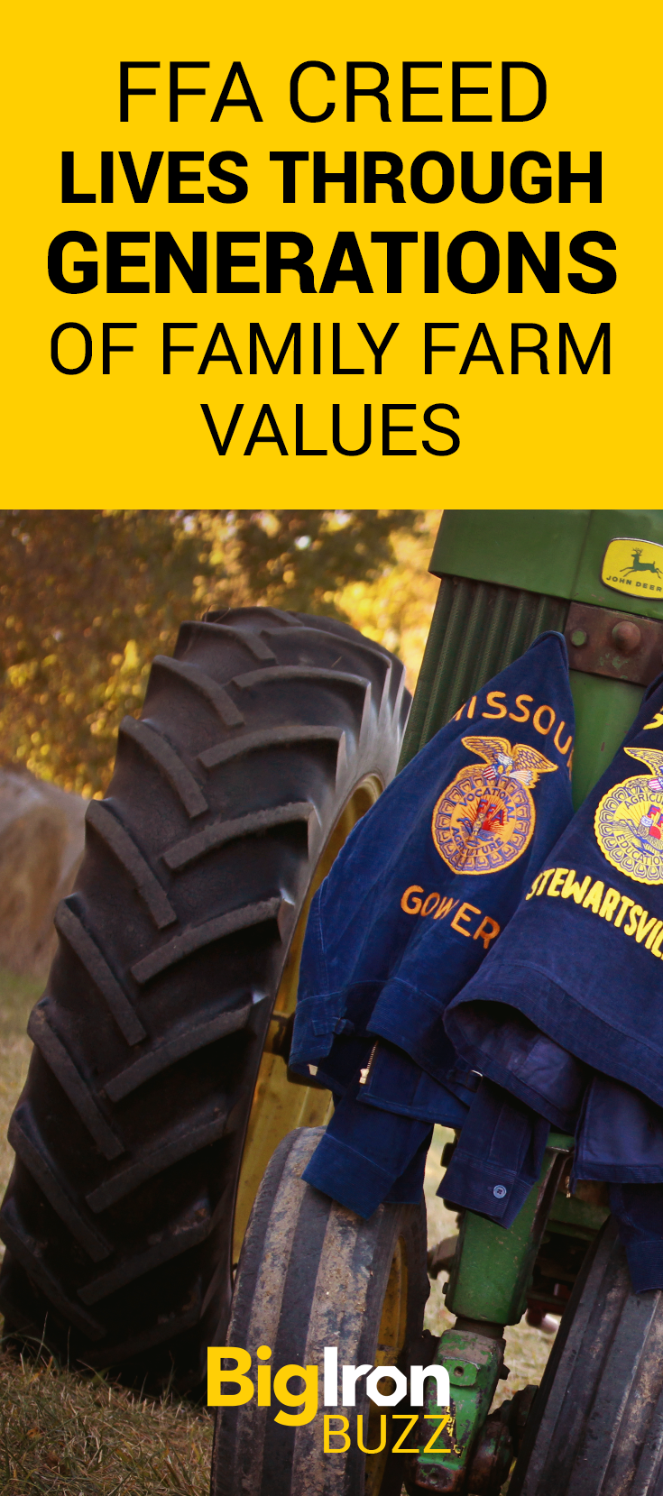 """""""I believe in the future of agriculture, with a faith born not of words but of deeds - achievements won by the present and past generations of agriculturists."""" FFA Member Cierra Keller and her grandfather Gene share their story of handing down strong family farm values."""